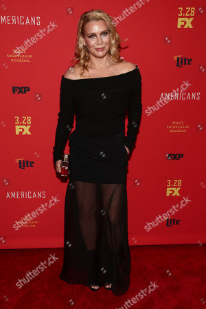 """Laurie Holden attends the premiere of FX Networks' """"The Americans"""" final season at Alice Tully Hall, in New York"""