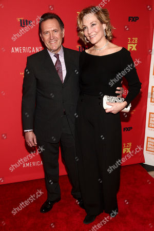 "Victor Slezak, Leslie Slezak. Victor Slezak, left, and Leslie Slezak, right, attend the premiere of FX Networks' ""The Americans"" final season at Alice Tully Hall, in New York"