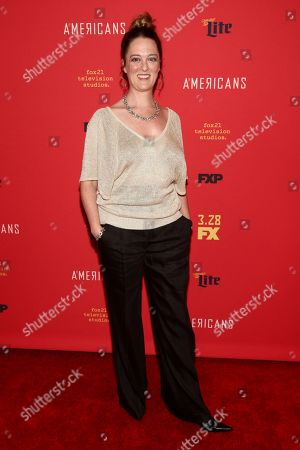 """Stock Picture of Polly Lee attends the premiere of FX Networks' """"The Americans"""" final season at Alice Tully Hall, in New York"""