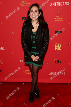 "Lucy DeVito attends the premiere of FX Networks' ""The Americans"" final season at Alice Tully Hall, in New York"