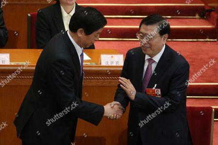 Zhang Dejiang and Li Zhanshu