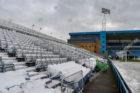 The Brian Moore stand (away supporters end) ahead of the EFL Sky Bet League 1 match between Gillingham and Blackburn Rovers at the MEMS Priestfield Stadium, Gillingham. Picture by Martin Cole