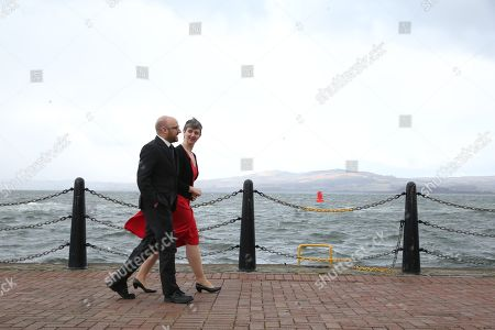 Patrick Harvie MSP and Maggie Chapman, Scottish Greens Co-Convenors, by the River Clyde outside the conference venue