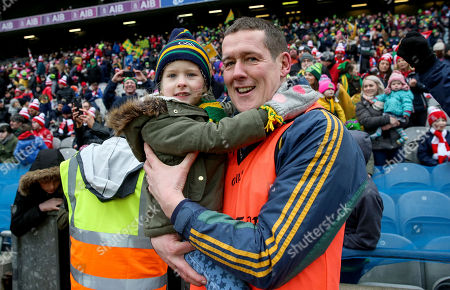 Stock Picture of Corofin vs Nemo Rangers. Corofin Manager Kevin O?Brien celebrates with daughter Emily