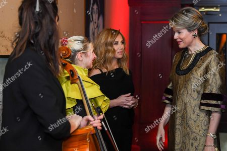 Queen Mathilde / Alice On the Roof / Lara Fabian attends a concert at Theatre Rialto, Montreal