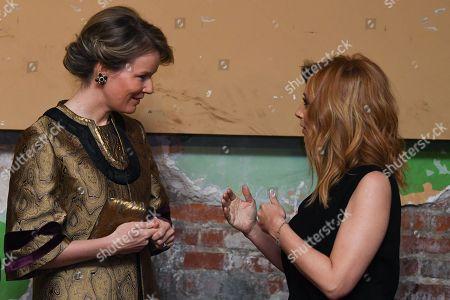 Queen Mathilde / Lara Fabian attends a concert at Theatre Rialto, Montreal