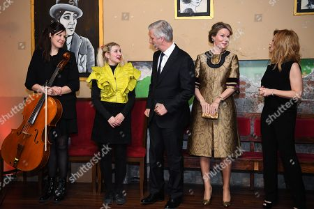 Queen Mathilde / King Philippe / Alice On the Roof / Lara Fabian attends a concert at Theatre Rialto, Montreal