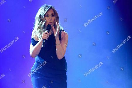 Lara Fabian attends a concert at Theatre Rialto, Montreal