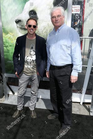 "Drew Fellman, David Douglas. Directors Drew Fellman, left, and David Douglas arrive at the LA Premiere of ""Pandas"" at the TCL Chinese Theatre IMAX, in Los Angeles"