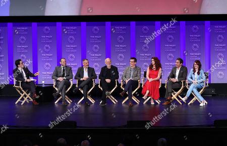 Dan Bucatinsky, Max Mutchnick, David Kohan, James Burrows, Sean Hayes, Debra Messing, Eric McCormack and Megan Mullally