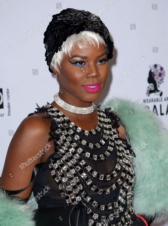 V. Bozeman arrives at the 2nd Annual Wearable Art Gala at The Alexandria Ballrooms, in Los Angeles