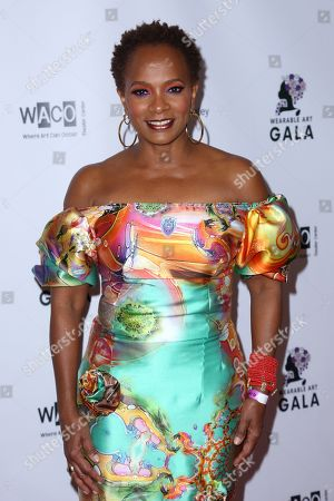 Vanessa Bell Calloway arrives at the 2nd Annual Wearable Art Gala at The Alexandria Ballrooms, in Los Angeles