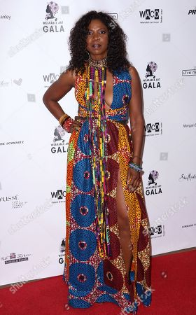 Nicki Micheaux arrives at the 2nd Annual Wearable Art Gala at The Alexandria Ballrooms, in Los Angeles