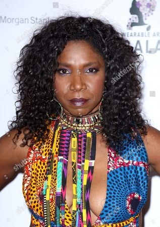 Stock Image of Nicki Micheaux arrives at the 2nd Annual Wearable Art Gala at The Alexandria Ballrooms, in Los Angeles