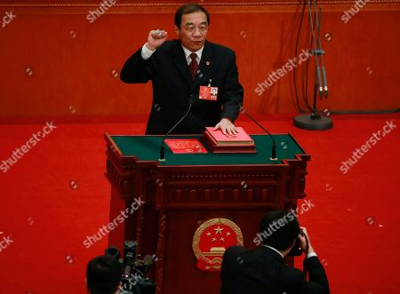 Editorial picture of 13th Chinese National People's Congress (NPC), Beijing, China - 18 Mar 2018