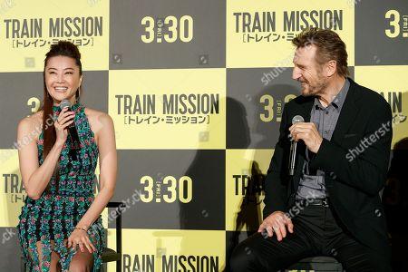 Stock Photo of (L to R) Alisa Mizuki and Liam Neeson