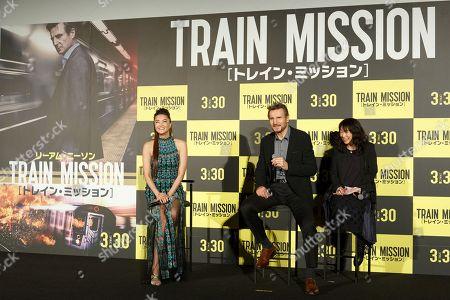 (L to R) Alisa Mizuki, Liam Neeson