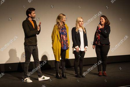 David Tennant, Director Daisy Aitkens, Producer, Faye Marsay and actor and comedian, Arabella Weir