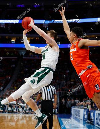 Editorial image of NCAA Syracuse Michigan St Basketball, Detroit, USA - 18 Mar 2018