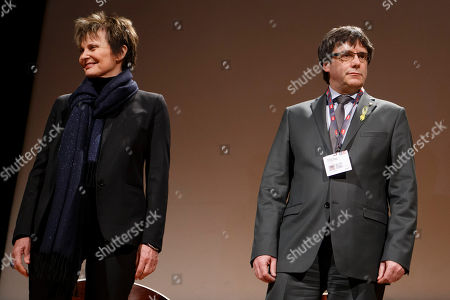 Carles Puigdemont and Micheline Calmy-Rey