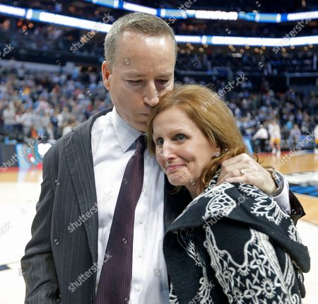Billy Kennedy, Mary Kennedy. Texas A&M head coach Billy Kennedy, left, hugs his wife, Mary, after defeating North Carolina in a second-round game in the NCAA men's college basketball tournament in Charlotte, N.C