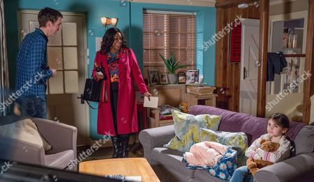 Ep 8100 Tuesday 20 March 2018  Marlon Dingle, as played by Mark Charnock, celebrates his birthday in the cafe and accidentally invites Jessie, as played by Sandra Marvin, to an imaginary birthday party. Later, Jessie arrives unexpectedly at Marlon's 'party' but with no one else there sits alone with April Windsor, as played by Ameila Flanagan,. Jessie's taken aback when April warns her off Marlon.