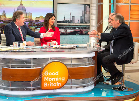 Piers Morgan and Susanna Reid with John Sweeney and Alexander Nekrassov