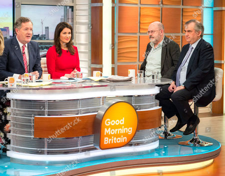 Stock Photo of Piers Morgan and Susanna Reid with John Sweeney and Alexander Nekrassov