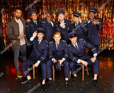 "(l-r, back row) Ashley Banjo James "" James Argent "" Argent, Ainsley Harriott, John Hartson, Alexander Armstrong, Ugo Monye  (front row, l-r) Tom Parker, Jeff Brazier, and John Partridge"