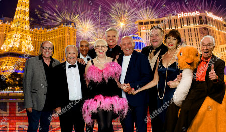 Stock Image of Mick Miller, Bobby Ball, Kenny Lynch, Su Pollard, Jess Conrad, Tommy Cannon, Bobby Crush, Anita Harris and Bernie Clifton.