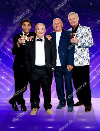 Stock Image of Kenny Lynch, Cannon & Ball - Bobby Ball and Tommy Cannon and Jess Conrad.