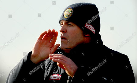 Offaly vs Kilkenny. Offaly's manager Kevin Martin
