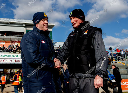 Offaly vs Kilkenny. Offaly manager Kevin Martin and Kilkenny manager Brian Cody