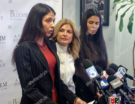 Faviola Dadis, Lisa Bloom, Regina Simons. Former model Faviola Dadis, left, reads from a statement at a news conference with her attorney, Lisa Bloom, center, in Los Angeles . Dadis, an aspiring actress says she was 17 when actor Steven Seagal sexually assaulted her during a supposed casting session in 2002. At right, Regina Simons who has also accused Seagal of sexual misconduct. Seagal's attorney has not responded to a request for comment about Dadis' allegations