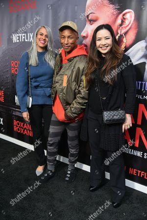 Mimi Valdes, Pharrell Williams and Nina Yang Bongiovi