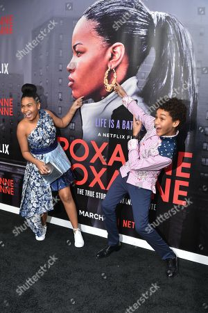Editorial picture of 'Roxanne Roxanne' film premiere, New York, USA - 19 Mar 2018