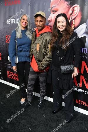 Pharrell Williams, Mimi Valdes and Nina Yang Bongiovi