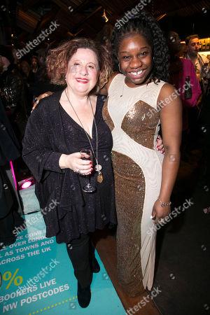 Sue Kelvin (Grandma Gellman) and Me'sha Bryan (The Washing Machine)