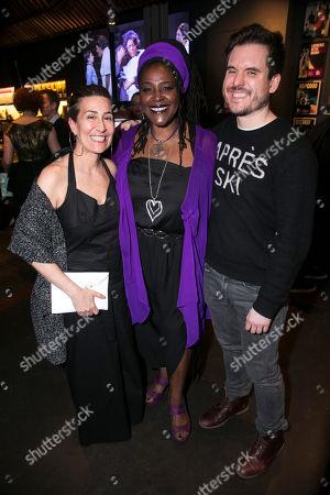 Stock Photo of Jeanine Tesori (Music), Sharon D Clarke (Caroline Thibodeaux) and Michael Longhurst (Director)