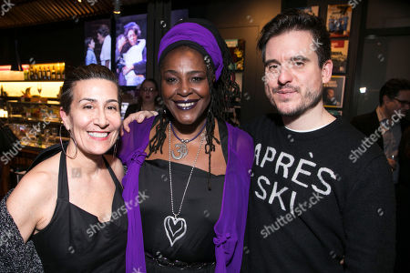 Jeanine Tesori (Music), Sharon D Clarke (Caroline Thibodeaux) and Michael Longhurst (Director)