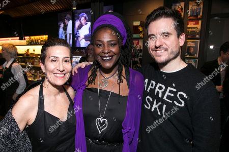 Stock Image of Jeanine Tesori (Music), Sharon D Clarke (Caroline Thibodeaux) and Michael Longhurst (Director)