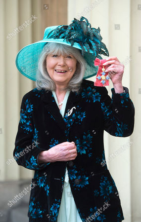 Jilly Cooper after receiving her OBE