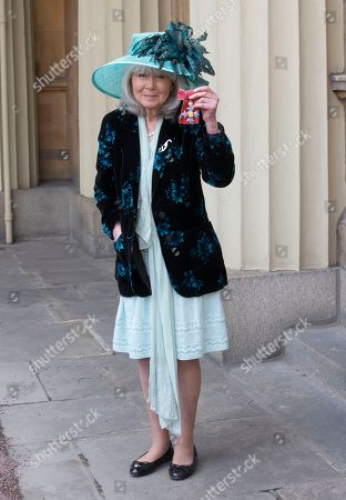 Jilly Cooper with her CBE