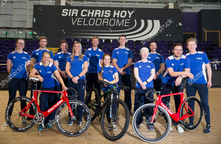 Editorial photo of Cyclists selected for Team Scotland to compete in the Gold Coast 2018 Commonwealth Games gather in Glasgow, Scotland, UK - 20 Mar 2018