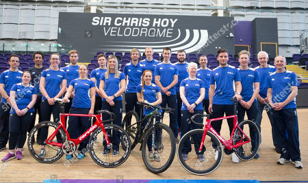 Editorial image of Cyclists selected for Team Scotland to compete in the Gold Coast 2018 Commonwealth Games gather in Glasgow, Scotland, UK - 20 Mar 2018