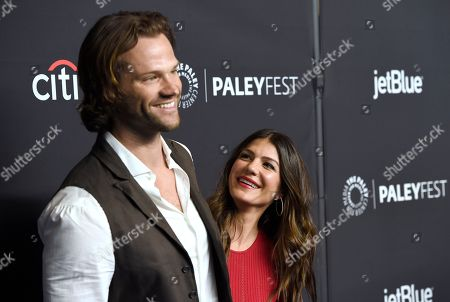 "Jared Padalecki, Genevieve Padalecki. Jared Padalecki, left, and Genevieve Padalecki arrive at a screening of ""Supernatural"" during the 35th annual PaleyFest at the Dolby Theatre, in Los Angeles"