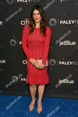 "Genevieve Padalecki arrives at a screening of ""Supernatural"" during the 35th annual PaleyFest at the Dolby Theatre, in Los Angeles"