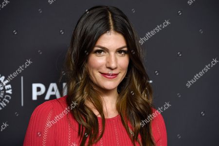 "Stock Image of Genevieve Padalecki arrives at a screening of ""Supernatural"" during the 35th annual PaleyFest at the Dolby Theatre, in Los Angeles"