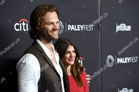 "Stock Picture of Jared Padalecki, Genevieve Padalecki. Jared Padalecki, left, and Genevieve Padalecki arrive at a screening of ""Supernatural"" during the 35th annual PaleyFest at the Dolby Theatre, in Los Angeles"