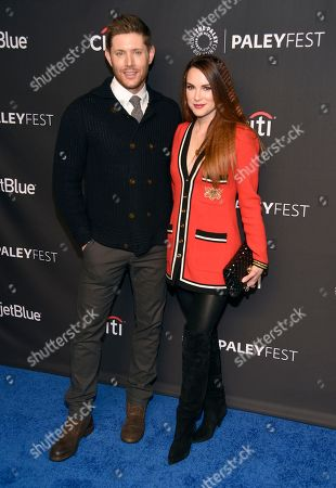 """Jensen Ackles, Danneel Ackles. Jensen Ackles, left, and Danneel Ackles arrive at a screening of """"Supernatural"""" during the 35th annual PaleyFest at the Dolby Theatre, in Los Angeles"""